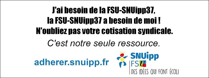 J'ai besoin de la FSU-SNUipp37 !